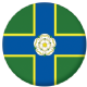 Yorkshire North Riding County Flag 58mm Button Badge